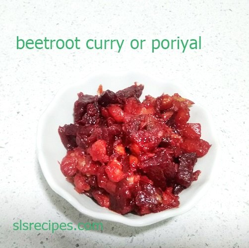 beetroot poriyal | beetroot curry for chapathi | beetroot poriyal for rice